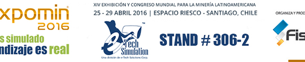 e-Tech Simulation en EXPOMIN 2016